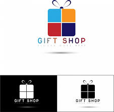 gifts logo vector gift shop logotypes flat present box ornament free vector in adobe
