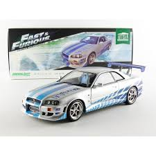 nissan r34 fast and furious fast and furious model brian u0027s nissan skyline gt r r34 1 18