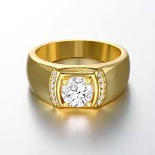 ring for men fashion rings men classic gold plated gold plated