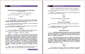 free business partnership agreement template uk sample partnership