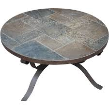 beautiful vintage handmade heavy wrought iron art round coffee