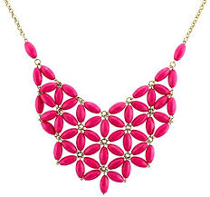 coloured statement necklace images Chunky cluster party statement necklace hot pink jpg