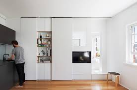 300 sq ft apartment skinny transformer wall expands this 300 sq ft apartment treehugger