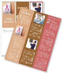 breast cancer newsletter template u0026 design id 0000006689