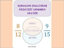 reducing fractions greatest common factor gcf notes worksheet