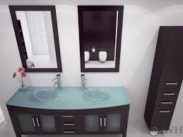 mesmerizing glass top bathroom vanity with classic home interior