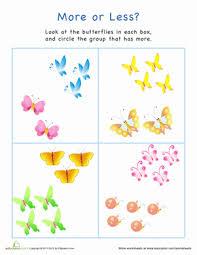 all worksheets more than less than worksheets for kindergarten