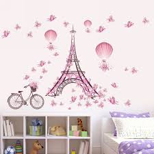 online get cheap paris wall murals aliexpress com alibaba group removable wall sticker for kids room paris eiffel tower art decal home decoration mayitr bedroom wall sticker diy mural