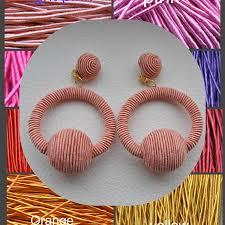hoop la earrings hoop silk earringsbonbons earringshoop la la silk