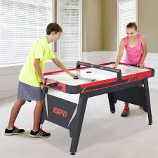 espn 60 inch air powered hockey table with overhead electronic