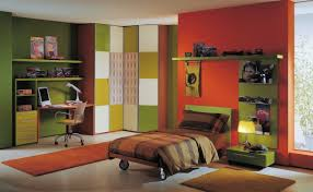 Green Bedroom Wall What Color Bedspread Colorful Kids Boys Bedroom Ideas Pictures With Minimalist Green