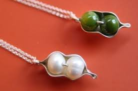 Two Peas In A Pod Charm Two Peas In A Pod Necklace For Twins