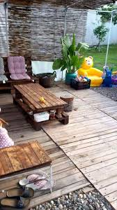 Outdoor Furniture Made From Pallets Diy Pallet Decking And Furniture Project 101 Pallet Ideas