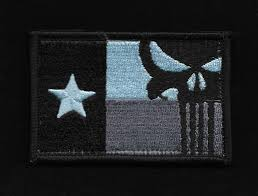 State Flag Velcro Patches Punisher Texas Flag Velcro Patch Subdued Usmilitarypatch Com