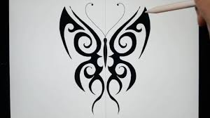sketching tribal butterfly designs on pro