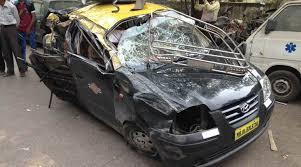 mumbai 6 dead in taxi crash on freeway 3 injured the indian