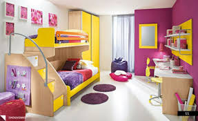 colorful bedroom with chic and multifunctional furniture for