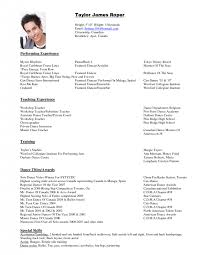 Performing Arts Resume Template Amazing Special Skills For Dance Resume Contemporary Simple