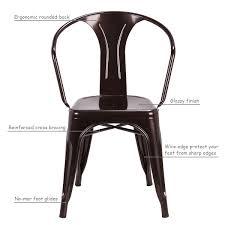 Copper Bistro Chair Costway Rakuten Costway Set Of 2 Vintage Tolix Style Arm Chair