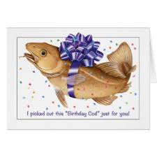 cod fish greeting cards zazzle