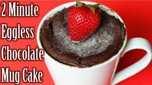 2 min eggless chocolate mug cake chocolate mug cake in microwave