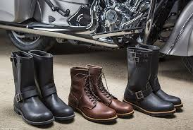 motorcycle boots and shoes indian motorcycles and red wing shoes partner to create new boots