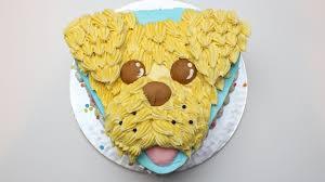 how to to make a dog cake buttercream cockerpoo cake easy