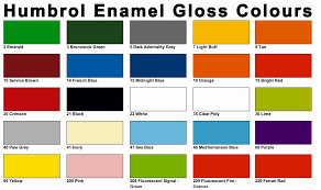 color chart humbrol modelling