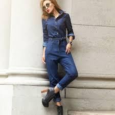 denim jumpsuits for jean jumpsuit dressed up