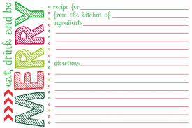 8 best images of free printable cute recipe card template free
