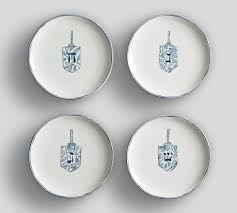 celebration plates hanukkah celebration icon salad plate set of 4 i think i want