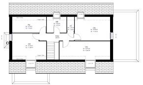 plan etage 4 chambres plan maison individuelle 4 chambres 60 habitat concept etage