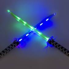 ninja light up led sword sticks sounds halloween costume toys