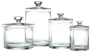 Glass Bathroom Storage Jars Bathroom Glass Accessories Pressed Glass Bath Accessories