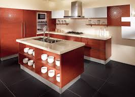 Wood Veneer For Kitchen Cabinets by Oak Color Wood Veneer Kitchen Cabinets Stainless Steel Sink And Faucet