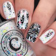 nail polish society uberchic beauty feathers mini stamping plate