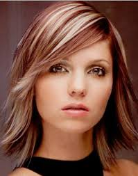layered medium haircut with side bangs shoulder length layered