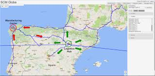 Zaragoza Spain Map by Zara Clothing Company Supply Chain Scm Globe