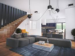 Living Room With Stairs Design Living Room With Stairs Design Gallery Also Trendy Home Interior