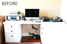 How To Organize Wires On Desk Hide Computer Cables On Desk How To Large Size Of Cable Management