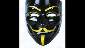 Guy Fawkes Mask Halloween by Guy Fawkes Mask Black And Gold Youtube