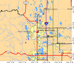 map of colorado by population fort collins colorado co profile population maps real estate
