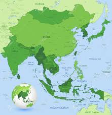East And Southeast Asia Map by High Detail Map Of Far East Asia With A 3d Globe Centered On