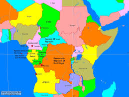 Africa Map by Africa Central Africa Political Map A Learning Family