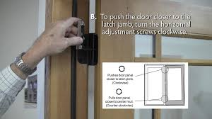 how to adjust lincoln swing patio door hinges youtube