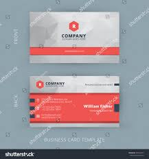 vector modern creative clean business card stock vector 265364273