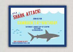shark invitation shark birthday pool party printable pdf