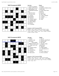 easy printable crossword puzzles for kid