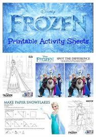 frozen sheets disney s frozen printable activity sheets jinxy kids