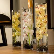 h j clear transparent glass landing large vase landed flowers lobby